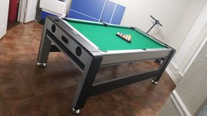 3 in 1 table. pool table, air hockey, ping pong for Sale in Balch Springs, TX