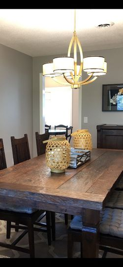 Dining Table & Chairs - Solid Teak, BEAUTIFUL! for Sale in Orlando,  FL
