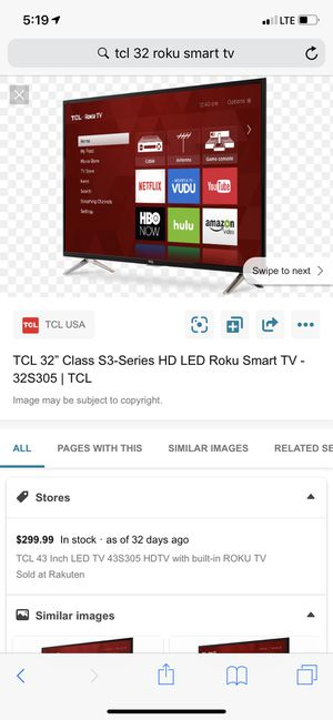 TCL Roku tv for Sale in Bothell, WA