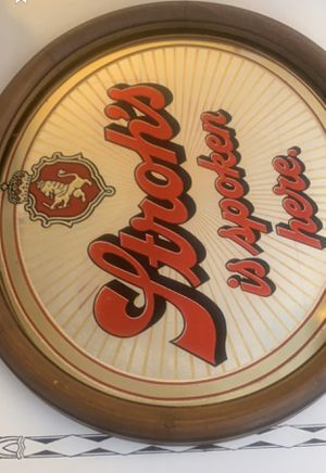 Old Strohs pub mirror with original wooden frame for Sale in Winchester, VA