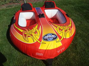 Rave Sports 2 Person Inflatable Towable Water Boat for Sale in Bellwood, IL