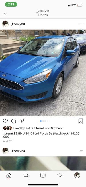 2015 Ford Focus 5,000 open to negotiate for Sale in Philadelphia, PA