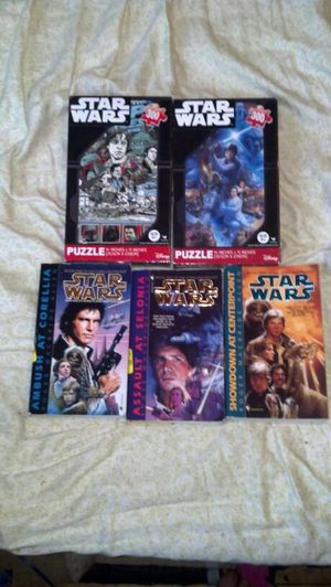 Star Wars books Corellian trilogy + 2 puzzles for Sale in Boston, MA