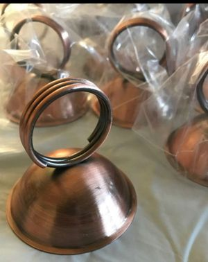 New. Antique Copper Tabletop Card Holders.12 Count. for Sale in Corona, CA
