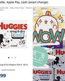 Huggies Diapers Size 6 2/6/21 for Sale in Soledad,  CA