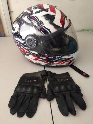 Scorpion EXO-500 motorcycle helmet plus gloves for Sale in El Cajon, CA