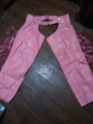 Ladies leather chaps and pants for Sale in Vallejo, CA