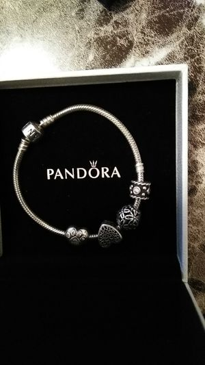Pandora bracelet 7:5 inches authentic for Sale in Jersey City, NJ