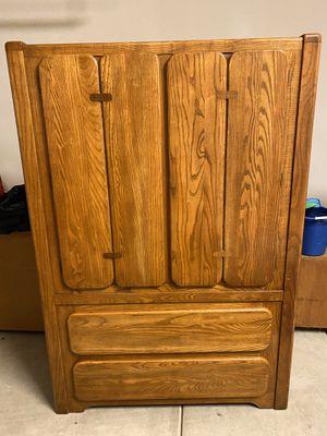 Solid Oak 4 Drawer Dresser for Sale in Corona, CA