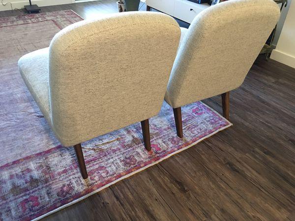 Need gone before 2/29! West Elm Janie Slipper Chair EUC (2 Chairs)