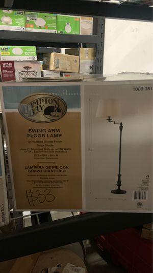 Hampton Bay Swing Arm Floor Lamp for Sale in Atlanta, GA