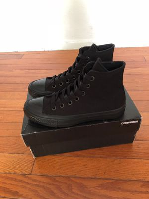 Converse high top shoes gradeschool sz4 black/black for Sale in Silver Spring, MD