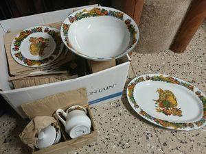 Thanksgiving harvest turkey dinnerware set for Sale in Ocoee, FL