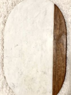 Marble & Wood Serving Platter / Tray for Sale in New York,  NY