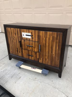 Beautiful mid century style sideboard server cabinet. Retails for over $700 for Sale in Fowler, CA