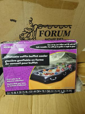 Inflatable black vampire coffin buffet cooler Halloween party decor spooky for Sale in Cypress, CA