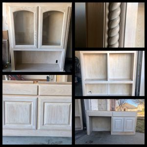 Wooden desk, shelves, storage for Sale in Fort Worth, TX