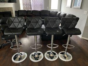 Brand new black bar stools (prestige) / black pub stools (height adjustable and swivel) for Sale in San Antonio, TX