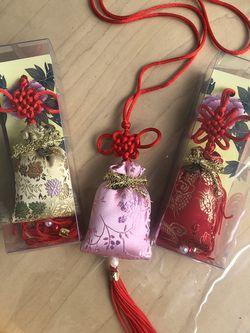 Silk Sachet Luck Bag Handmade Ornament Pendant for Sale in Hollywood,  FL