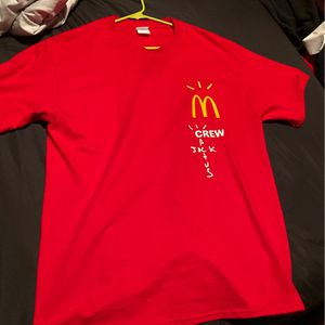 travis scott mcdonalds red shirt for Sale in Hutto, TX