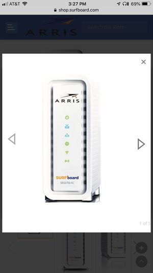 Arris Surfboard Cable Modem & Wifi Router AC1600 for Sale in San Antonio, TX