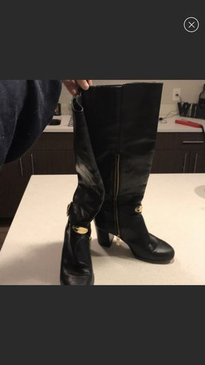 Michael Kors black and gold heeled boots for Sale in Boston, MA