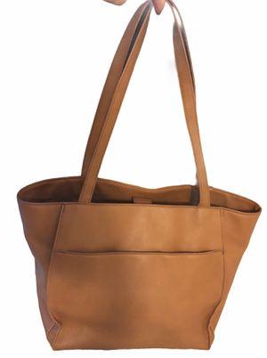 Vegan Tan Leather Shoulder Bag Purse Brown Tote Snap for Sale in Arcadia, CA
