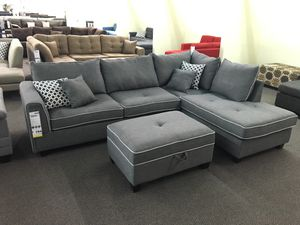 Reversible sectional sofa storage ottoman included for Sale in Garden Grove, CA