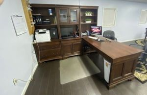 Wood grain Office desk for Sale in Roswell, GA