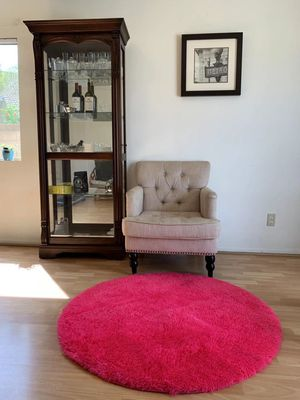 Comfy Fluffy Soft Area Rugs for Living Room Bedroom Dining Room Silky Smooth Anti-Skid Decorative Floor Rugs 4' Round for Sale in Rancho Cucamonga, CA