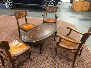 Wooden Antique Table and Chair Set for Sale in Herndon, VA