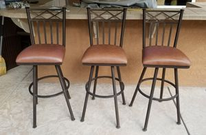 3 metal frame swivel stools $75 each!!! for Sale in Los Angeles, CA