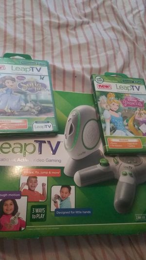 Like new LeapTV gaming system with 2 brand new games!!! for Sale in St. Louis, MO