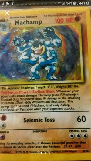 First edition 1995 machomp pokemon card for Sale in Topanga, CA