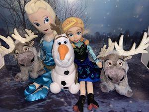 Disney Frozen plush toys lot set for Sale in Lakewood, CA
