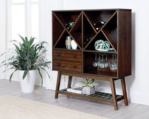 SOLID WOOD WINE CABINET for Sale in Hollywood, FL