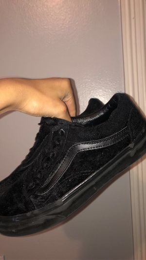 Black Velvet Vans for Sale in Houston, TX