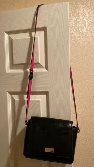 Authentic Kate Spade Black Leather / Pink Shoulder Bag for Sale in Culver City, CA