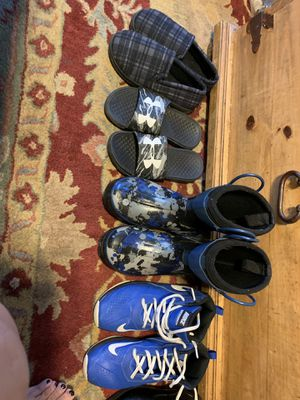 Boys Variety of Shoes - Boots, Slippers, Gym, Slides, Dress & work Boots - AWESOME Condition! for Sale in Des Plaines, IL