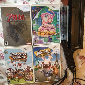 Wii Plus w/ four games & Controller for Sale in Fairfax, VA