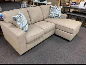 Greaves Driftwood Beige Sofa Chaise ⚡ Best Price | Delivery Available 🚛 for Sale in Irving,  TX