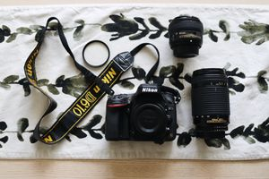 Nikon D610 Camera, 2 Camera Lenses, 1 UV Filter, and Camera Bag for Sale in Lynnwood, WA