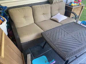 Outdoor Furniture Set - Couch, Table, 2 Chairs, 2 Footrests for Sale in San Jose, CA