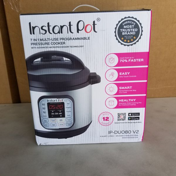 Instant Pot DUO80 8 Qt 7-in-1 Multi- Use Programmable Pressure Cooker, Slow Cooker, Rice Cooker, Steamer, Saut?, Yogurt Maker and Warmer