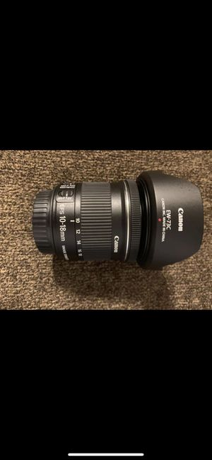 Canon 10-18mm lens for Sale in Fort Walton Beach, FL