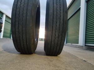 (2) 295/75 R22.5 Trailer Tires for Sale in Grand Prairie, TX