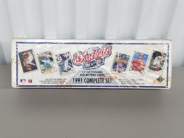 1991 Upper Deck complete set baseball cards with 3D team holograph NEW