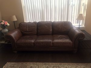 Leather couch. No pets, no smoke in the house. Moving sale. for Sale in Golden, CO
