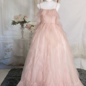 Spaghetti Strap Pink Ruffles Tulle Prom Dress/ Quinceanera&Sweet 16 Dress/ Birthday Party Dress, Size 4-6 for Sale in Fort Lauderdale, FL