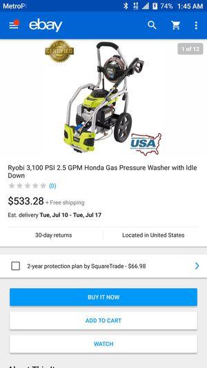 Ryobi Honda pressure washer for Sale in Irvington, NJ